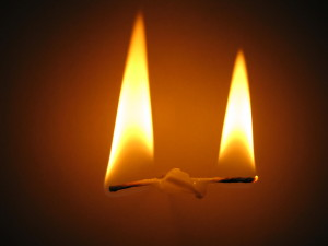 A candle burning at both ends