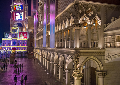 LAS VEGAS - MAY 25 : The Venetian hotel in Las Vegas on May 25, 2014. With more than 4000 suites it`s one of the most famous hotels in the world