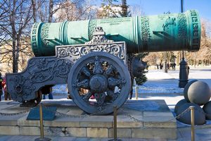Tsar Pushka - huge ancient cannon, Moscow Kremlin, Russia